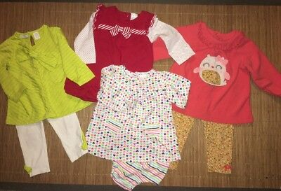 Lot Of Winter Baby Girl Clothes ~ Size 12 Mos ~ First Impressions, Nursery Rhyme