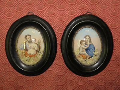 Pair of Small French Circa 1900s Pictures