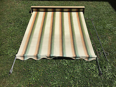 Canvas awning blind
