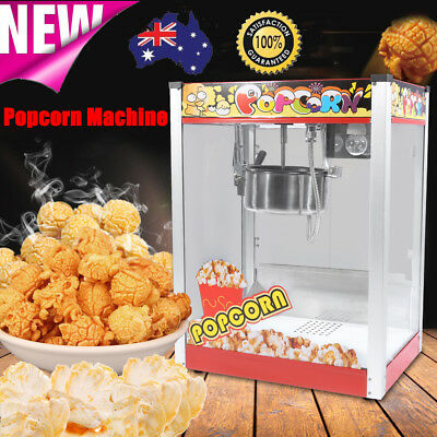 1440W Commercial 8oz Luxury Red Popcorn Maker Pop Corn Popper Machine AU Stock