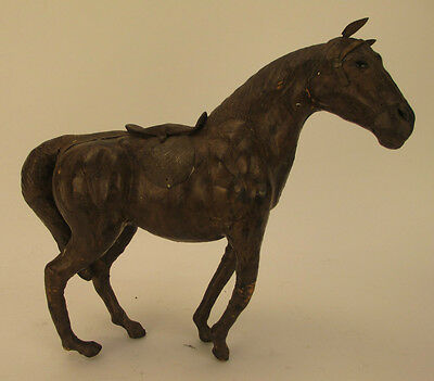 Vintage Leather Wrapped Standing Horse Figurine