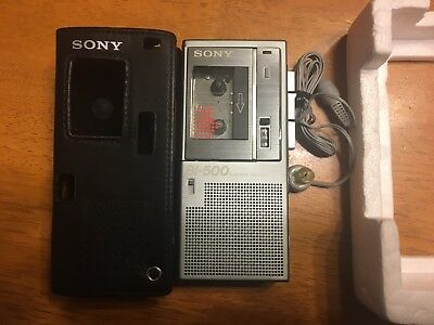 Sony Bi-500 Business-Corder Dictaphone With Headphones And Case