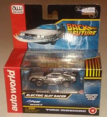 AUTO WORLD Delorean Back to The Future BTTF.  HO Slot Car. Fits AW, AFX