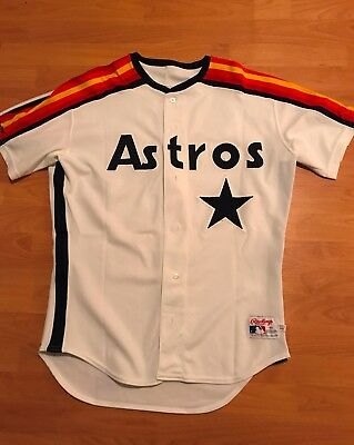 Brian Williams size 46 #53 1991 Houston Astros Game Used Jersey Home RAINBOW