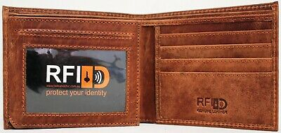 RFID Security Lined Leather Wallet Quality Full Grain Cow Hide Leather. 11049