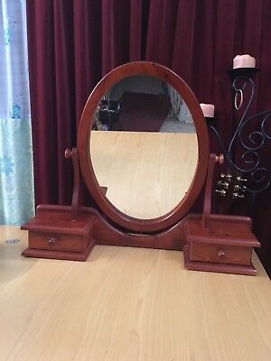 Dressing Table Mirror Oval with two Drawers vanity Large GC P'up Frankston Vic