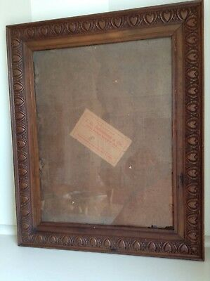 Antique Vintage Australian Carved Wooden Picture Frame - Original.