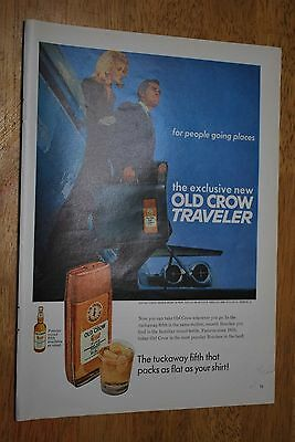Old Crow Whiskey 1968 Playboy Magazine ad -  Good ++