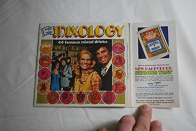 1972 Playboy Insert Mixology Booklet Ad - 44 Famous Mixed Drinks -NICE!!