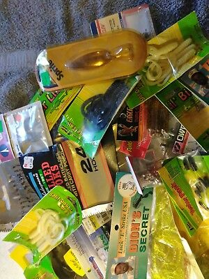 Lot Of Vintage New And Used Fishing Items Very Nice Box Lot
