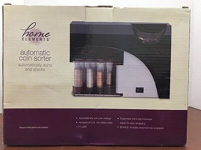 Home Elements Automatic Coin Sorter Counter