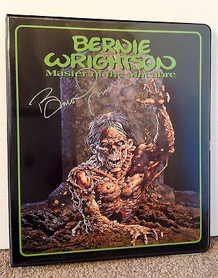 Bernie Wrightson Autographed Signed Binder and Card Set Master of the Macabre