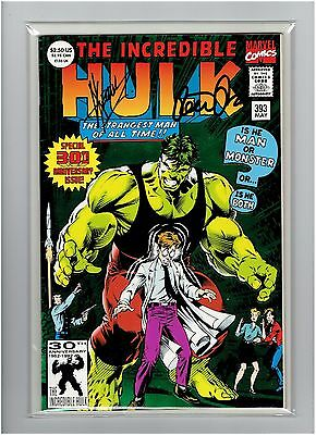 The Incredible Hulk #393 Peter David Signed Dale Keown Signed 30th Anniversary