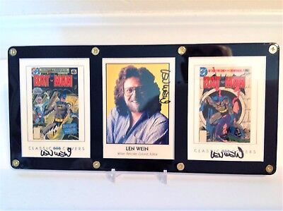 Len Wein Signed Batman Classic Covers Cards and Famous Creators Card Display