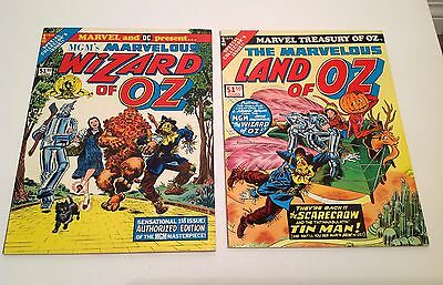 Marvel Treasury Of Oz #1 and MGM The Marvelous Wizard of Oz #1 Treasury Editions