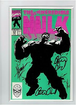 The Incredible Hulk #377 Peter David Signed x2 Dale Keown Signed 1st New Hulk