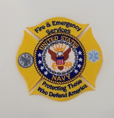 Navy Fire Emergency Services Patch 350 Picclick
