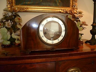 Vintage Art Deco British Westminster chime mantle clock - goes well