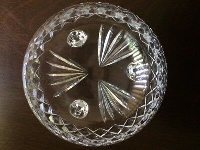 Clear Crystal Tri-Footed Bowl