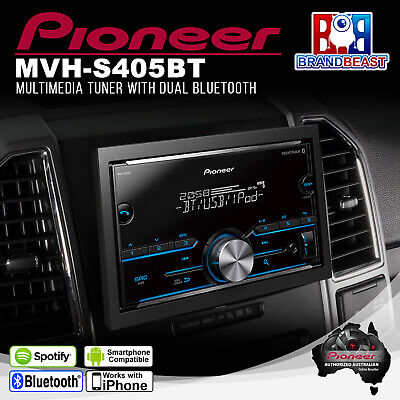 Pioneer MVH-S405BT Bluetooth Media Player with Smartphone Connectivity