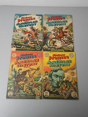 Picture Stories from American History Set (1 2 3 4) (2.0 GD) Golden Age EC