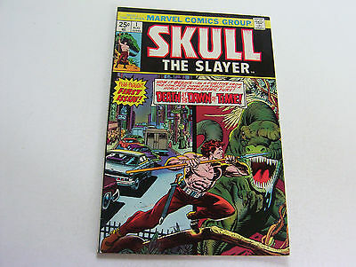 Skull The Slayer  #1   August 1975   Silky Smooth Cover  Origin Issue  Very Fine