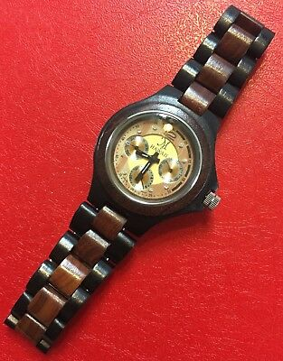 Martin & MacArthur - Multi-Function Wood Watch - Light Face 18652 - Hawaii