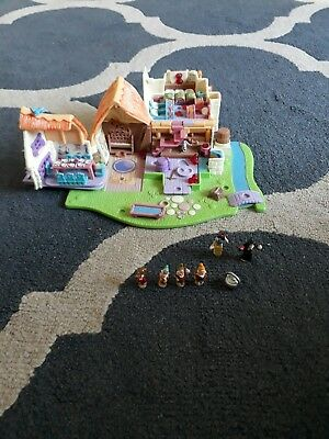 Vintage Polly Pocket DISNEY SNOW WHITE COTTAGE BLUEBIRD TOYS