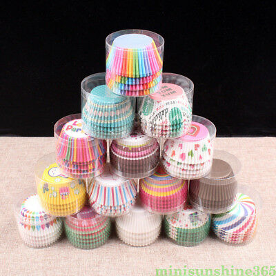 100 Pcs Cake Paper Cases Muffin Chocolate Baking Supplies Paper Cups Container