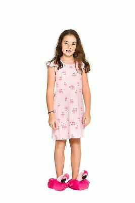 Girls PJs Size 3-7 Summer Short Sleeve Nighties Pyjamas Pink Flamingo (736)