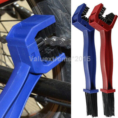 Cycling Motorcycle Bike Portable Gear Chain Brush Grunge Cleaner Cleaning Tool