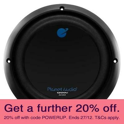 """Planet Audio AC8D 8"""" 1200W Subwoofer with AUST LOCAL WARRANTY"""