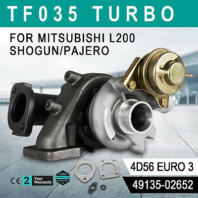 Up Fit Mitsubishi L200 Pajero 2.5 4D56 TF035 49135-02652 Turbocharger Great