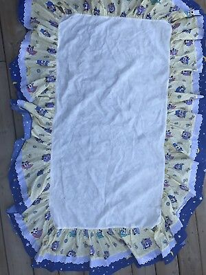 Vintage DISNEY Babies Baby Mickey Minnie Mouse Crib Skirt Dust Ruffle