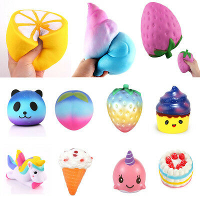 Jumbo Squishy Soft Slow Rising Stretch Squishies Toys Kids Stress Relief Fun Toy