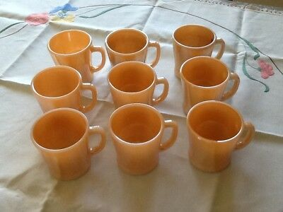Vintage Fire King mugs x 9 Made In U.S.A