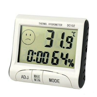 Digital Thermometer Hygrometer Temp Temperature Humidity Meter Clock