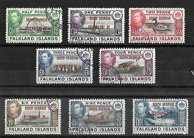 South Georgia - KGVI stamps - Used - Values up to 1s