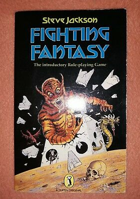 NM First Edition 1984 Fighting Fantasy #1,Introductory RPG, Steve Jackson