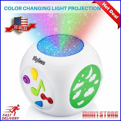 Baby Sound Machine & Star Projector Night Light, Cry Detecting Nursery New, Fast