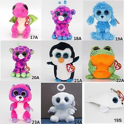 """Ty Beanie Boos 6"""" Mandy Gilbert Waddles Speckle Stuffed Plush Toys Gifts FY"""