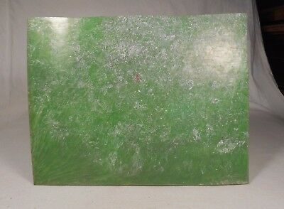 Beautiful rare lot of old galalithe green marbled 1 plate 288 grams