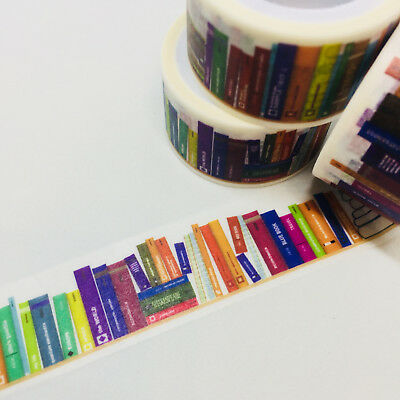 Washi Tape Wide Bookish Books Library 20Mm X 5Mtr Craft Planner Wrap Mail Art
