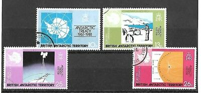 British Antarctic Territory Set - 1981 - 20th Anniv of Antarctic Treaty - used