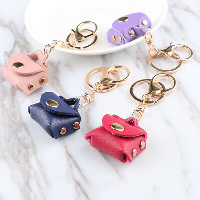 Handbag Women Leather Tassel Key Chain Ring Accessory Pendant Keyring
