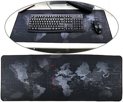 Anti-Slip World Map Game Mouse Pad Mat For Home Laptop Computer Keyboard 40x90cm