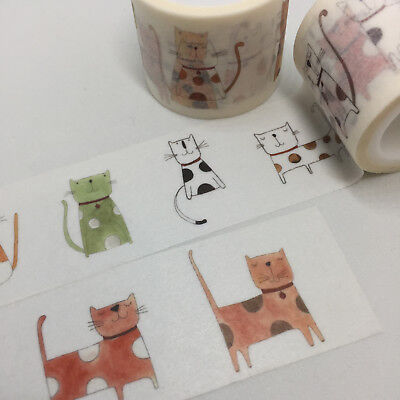 Washi Tape Wide Cattitude Cats 30Mm Wide X 5Mtr Roll Craft Plan Wrap