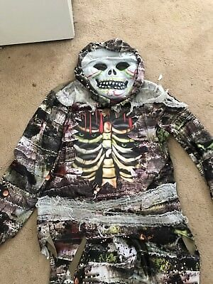 Boys Skeleton / Mummy  Halloween Costume 7-8 Worn Once