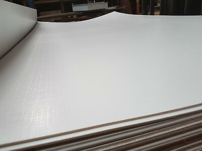 White sided caravan melomine polyester  ply plywood  2400x1200x3.6mm  $10sht