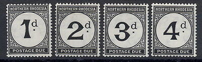 BRITISH COLONIES NORTHERN RHODESIA 1929-52 SG D1-D4 Complete Set MLH
